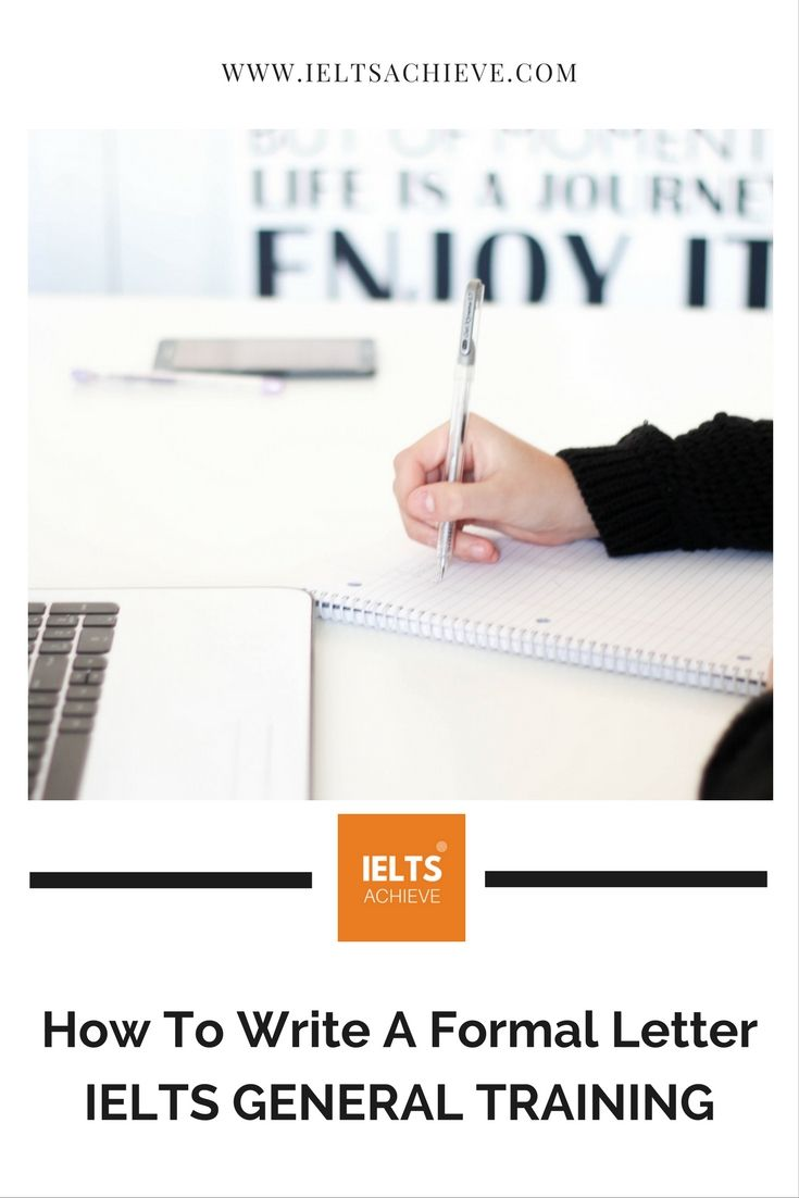 15 best ielts general training images on pinterest do you want to learn how to write a formal letter for the ielts general training malvernweather Choice Image