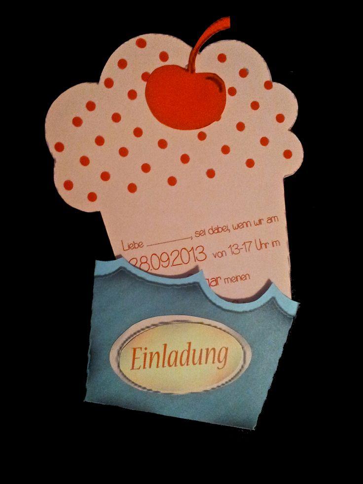 Cupcakes einladung zum kindergeburtstag kindergeburtstags einladung pinterest cupcake - Pinterest einladungskarten ...