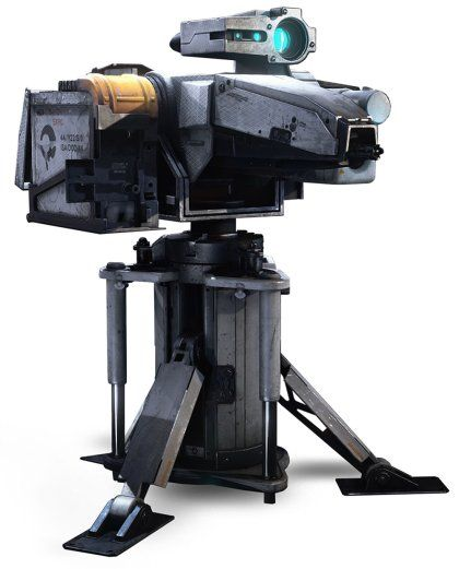 The Art of Killzone: Shadow Fall ISA Sentry Turret.