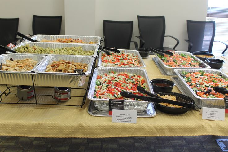 Catered food from Noodles & Company
