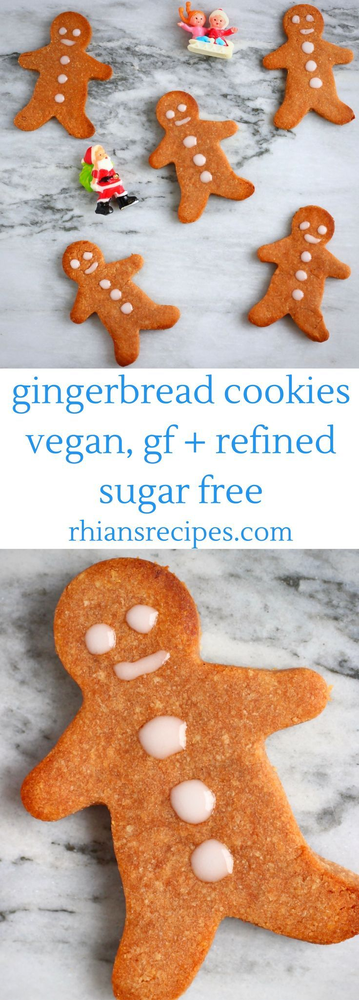 These Gluten-Free Vegan Gingerbread Cookies are crispy yet chewy, fragrantly spiced and super easy to make! Also refined sugar free.