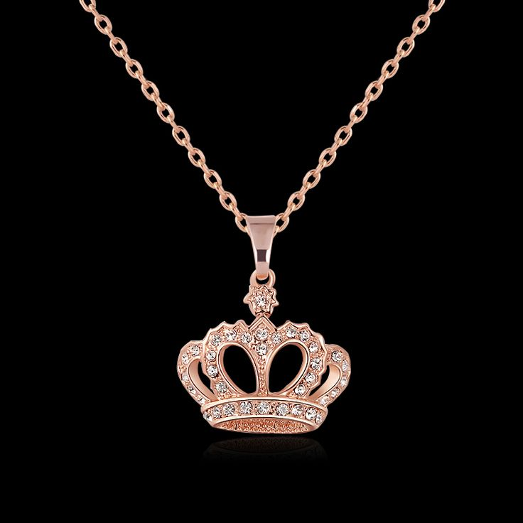 Fashion 18k gold plated collier femme crown necklace jewelry 2016 maxi bijoux femme necklace trendy necklaces & pendants chain //Price: $11.99 & FREE Shipping //     #girls #activewear #body