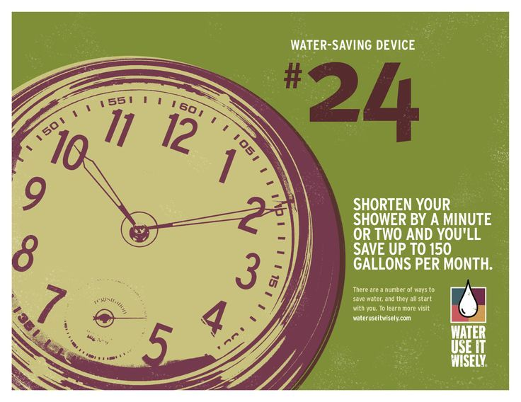 Nice Water-Saving Device #24: Shorten your shower by a minute or two and you'll save up to 150 gallons per month. For more ...   Water-Saving Tips Check more at http://ukreuromedia.com/en/pin/14509/