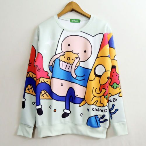 Adventure Time with Finn and Jake Cosplay Costume Sweater Jacket Coat New0 #Unbranded #TopShirt