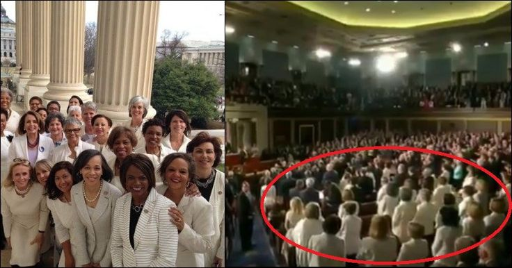 Dems Wear White During Trump's Speech, Pathetic Meaning BACKFIRES Big Time