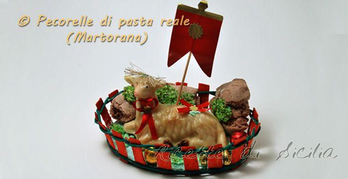 Poteva mancare nello Speciale Menu di Pasqua la Pecorella di Pasta Reale? Decisamente no, per la gioia di grandi e piccini...eccola!!!