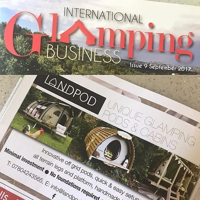"""""""Wednesday regram for Glamping Show exhibitors @landpod!  We have a cheeky feature in this months @glampingbusinessmag Impressive selection of Pods & Cabins for the Glamping industry. . . . #glamping #glampingpod #glampinglife #glampinguk #internationalglampingbusiness #glampingbusiness #offgridliving #offgridlife #pods #cabins #cabinlife @theglampingshow #theglampingshow #landpod #happyglamper #glampers #glamper #smallbusiness #smallbusinessowner #outdoorhospitality #hospitality 📷…"""