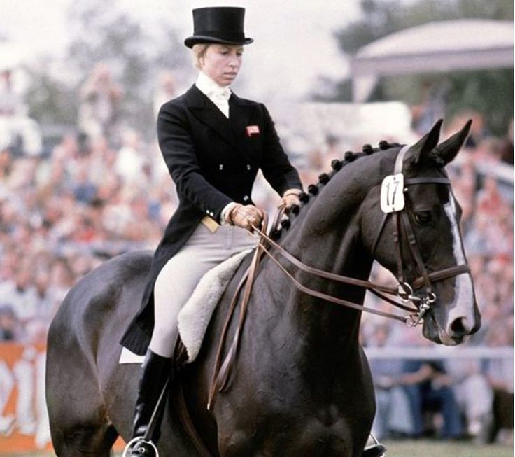 1976 - Princess Anne competed for the Great Britain equestrian team at the 1976 Olympics