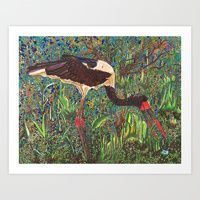 Art Print featuring South African Bird by Juliana Kroscen