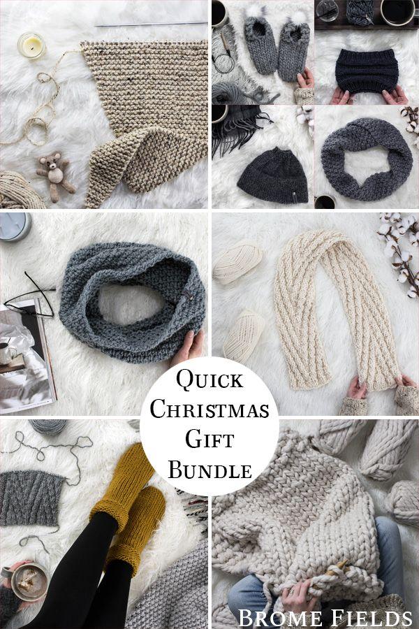 12 Days Of Thankfulness Quick Christmas Gift Ideas Knitting Pattern Bun Christmas Gift Knitting Patterns Quick Christmas Gifts Christmas Knitting Patterns Free