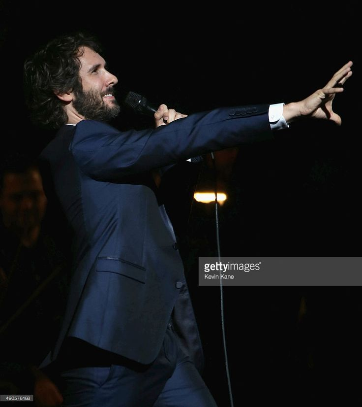 Josh Groban performs at the Beacon Theatre on September 29, 2015 in New York City. Credit: Kevin Kane