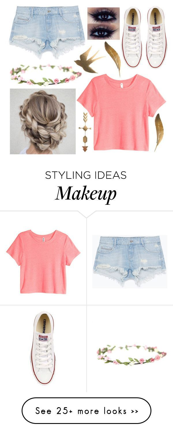 """""""Ootd"""" by teenwolfluver11 on Polyvore featuring Zara, Converse and H&M"""