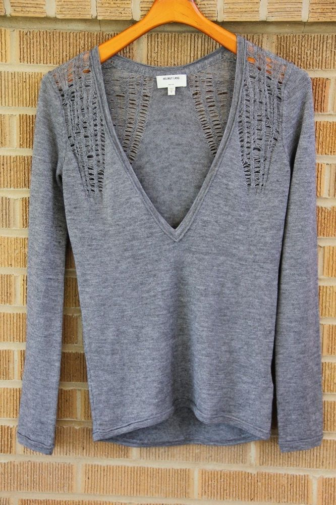 c6f434249e508 Helmut Lang~Cashmere Silk Web~Deep V Sweater Top~S~ 375  SOLD OUT ONLINE    HELMUTLANG  VNeck. Find this Pin and more on Women s Sweaters   Cardigans  ...
