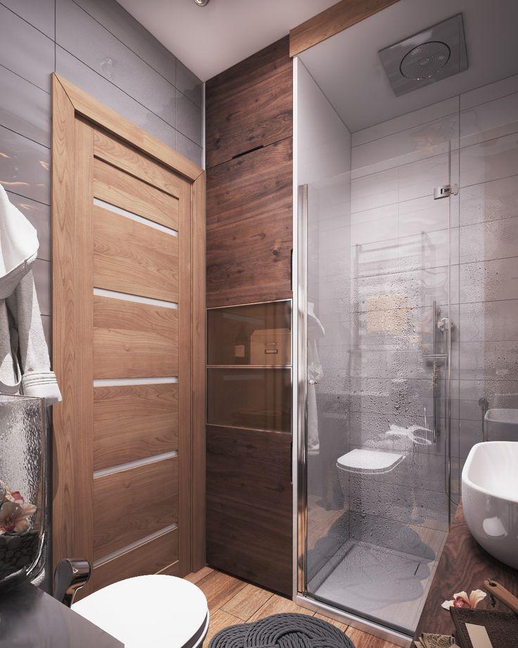 Интерьер квартиры-студии 40 кв. м. разработан в современном эклектичном стиле, позволяющем объединять элементы нескольких стилей дизайна - ретро, хай-тек, минимализма.