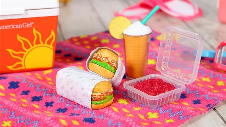 Doll TOYS Review   American Girl Doll Beach Cooler Set