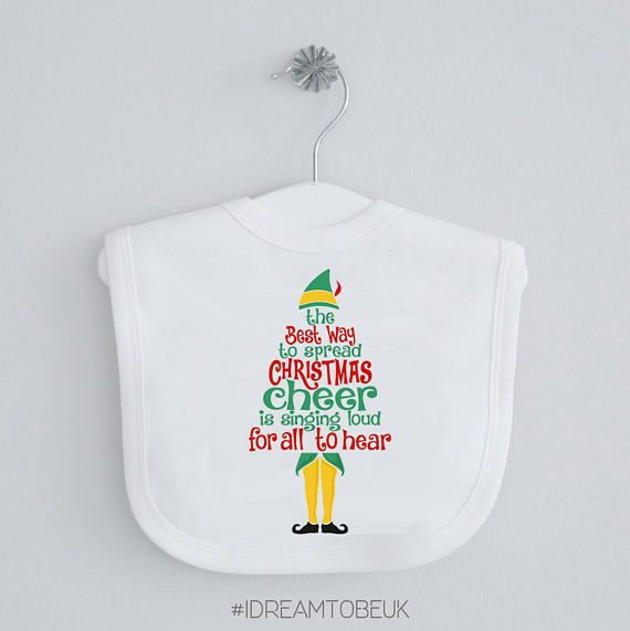 Christmas Cheer baby bib  dribble bib buddy the Elf