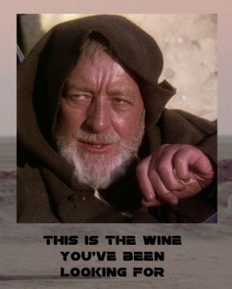 Free funny Star Wars wine bottle label and tags go to thewinecrafter.com for unique party wine bottle ideas free to download and print for the Star Wars fan