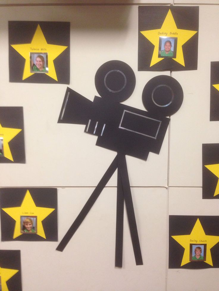 Movie camera for Hollywood themed Yr7 graduation.