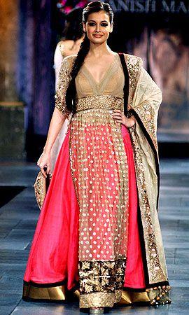 Dia Mirza for http://www.ManishMalhotra.in/landing/ #Desi #Fashion