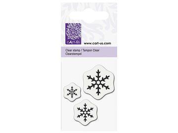 Silikónová pečiatka - snehové vločky