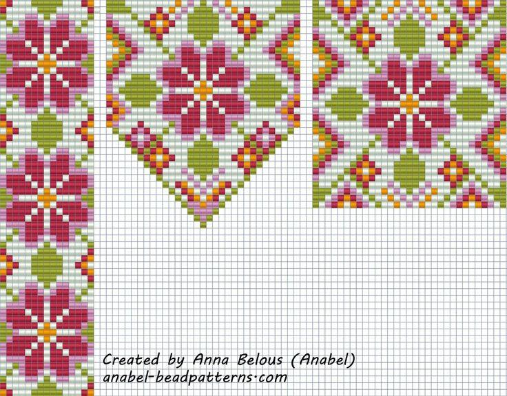 scheme beadwork gerdan Gaitán on Tapestry weaving machine