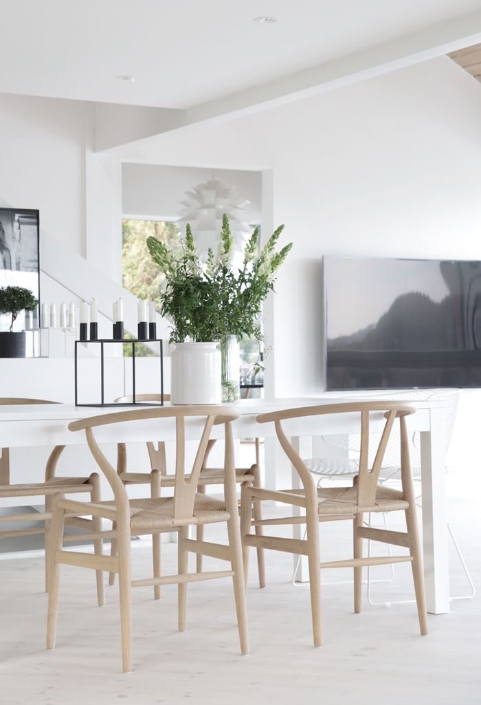 Wishbone Chair By Hans J. Wegner From Carl Hanesn U0026 Søn And Kubus Candle  Holder By Mogens Lassen From ByLassen Dining Area_Stylizimo House