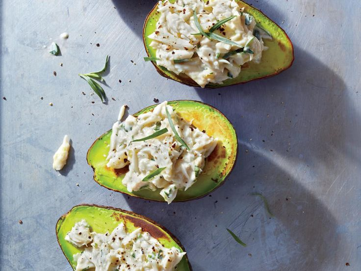 We couldn't resist stuffing cup-shaped avocado halves, here gently seared until lightly caramelized. Sweet crabmeat dressed with zingy le...