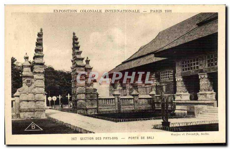 CPA Exposition Coloniale Internationale Paris section des prys bas porte de bali | eBay