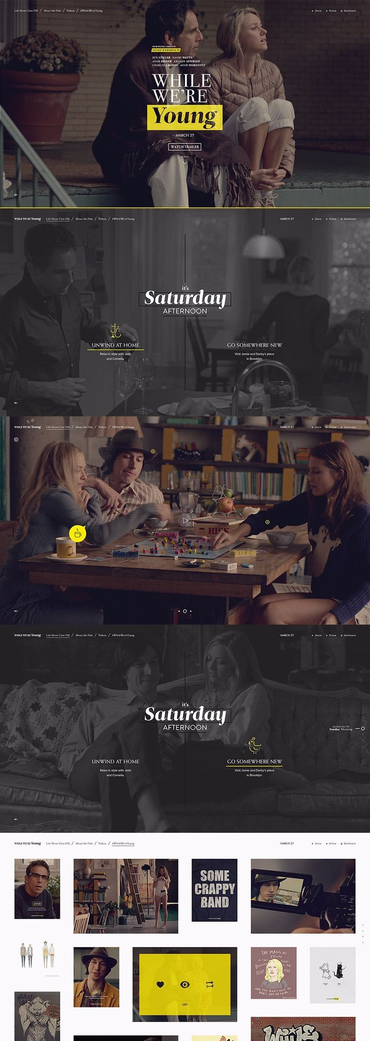 Social gallery is slick --> While We're Young by Watson
