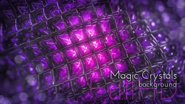 Glow Magic Crystals Motion Background. Everyday Design Project.