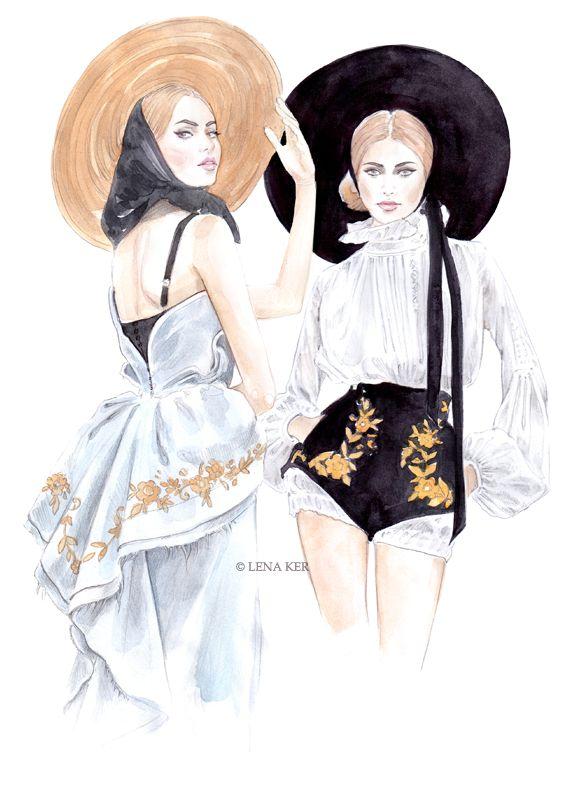 artworks by Lena Ker: inspiration - Ulyana Sergeenko Haute Couture Spring 2013