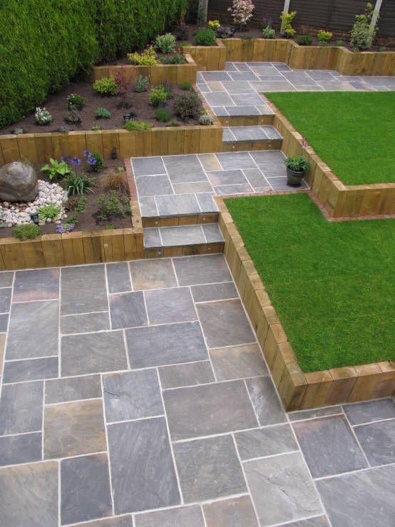 GALAXY SANDSTONE PAVING : Modern garden by BARTON FIELDS LANDSCAPING SUPPLIES
