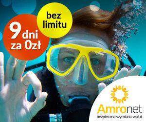 W Amronet.pl 9 DNI ZA ZERO ZŁ BEZ LIMITU Oszczędzisz 100% prowizji przez 9 dni rejestrując bezpłatne konto. https://konto.amronet.pl/9-dni-za-zero-bez-limitu Zapraszamy do wymiany walut i profesjonalnej obsługi