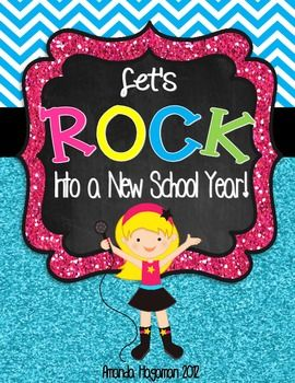 Rockin' Into A New School Year (Back to School games, assessments, crafts, and activities with a ROCKIN' flair!!)