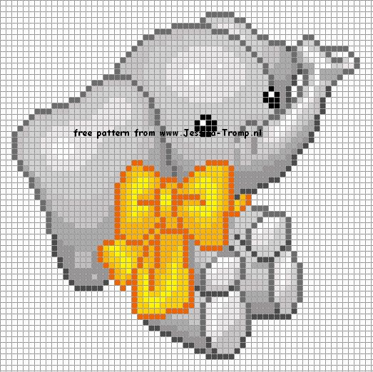 Cross stitch elephants (Whole page of patterns!)