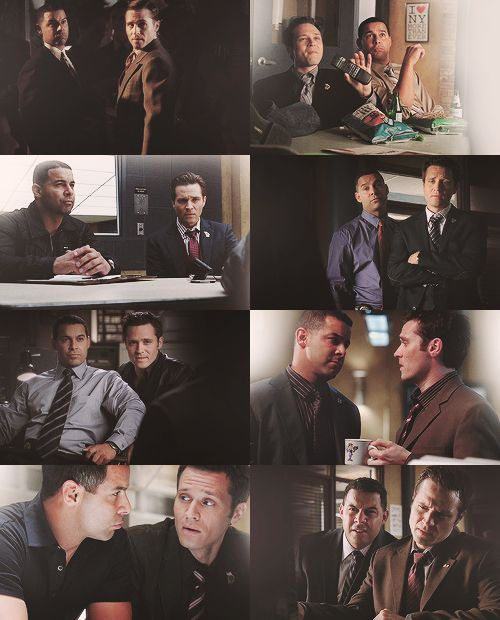 Ryan and Esposito on Castle (Seamus Dever and Jon Huertas)