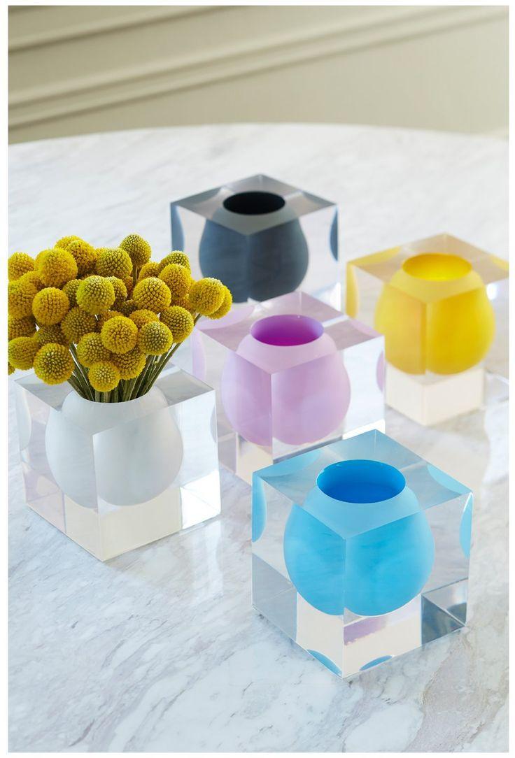 Jonathan Adler Bel Air Mini Scoop Vase, White - White - Free Shipping