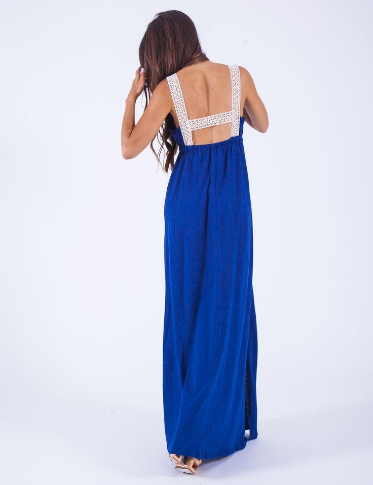 Μακρύ φόρεμα με πλεκτό σχέδιο στην πλάτη | Mindyourstyle.gr