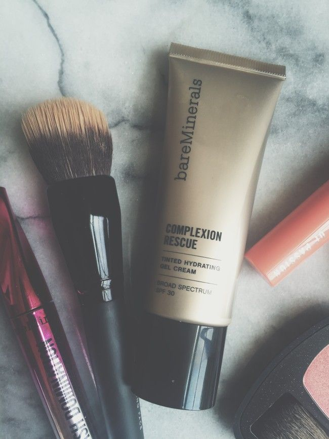 My Quick + Easy Beauty Routine. Loving bareMinerals Complexion Rescue! #bareMinerals #MorningRescue #ad