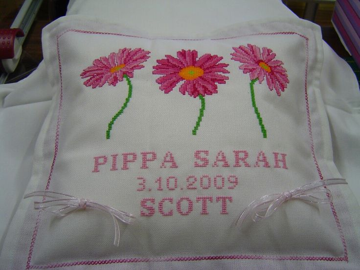 Ring cushion for Pippa and Scott's wedding