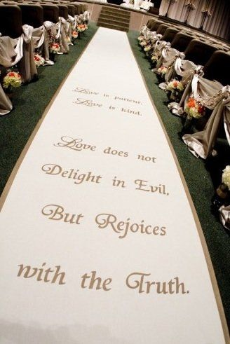 Biblical quote aisle runner