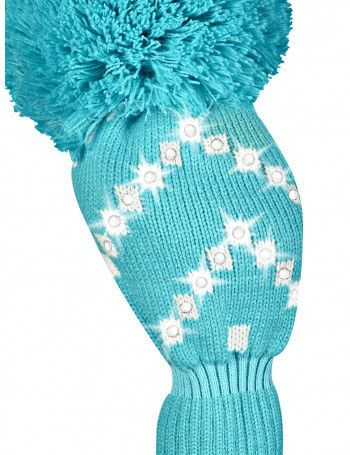 Just4Golf Sparkle Turquoise Chevron Driver Cover