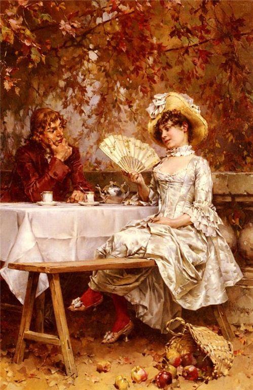 frederick-hendrik-kaemmerer-tea-in-the-garden-autumn.jpg (499×768)