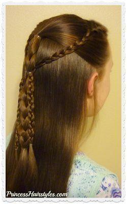 Coiffure rapide et facile pour l'école Tutoriel de tresses rassemblées simples #braids #gathered #hairstyle #quick #school - Coiffure - -