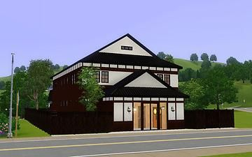 "Mod The Sims - Japanese style tourist spot ""Public bathhouse"""