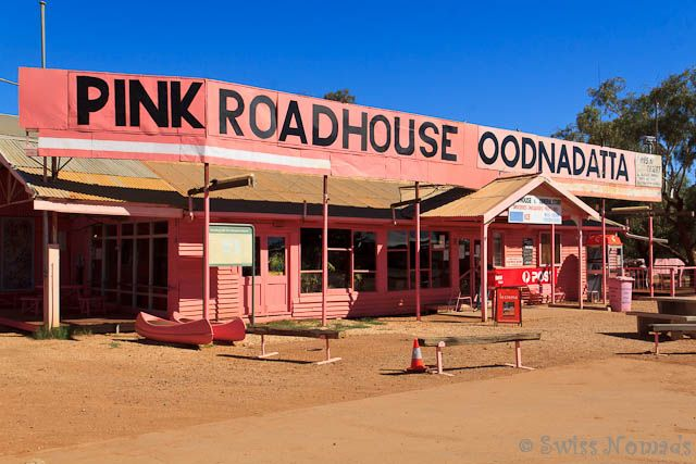 The Pink Roadhouse in Oodnadatta is legendary and worth a stop