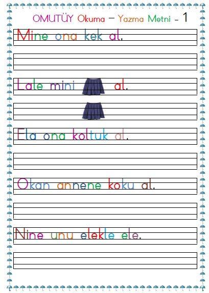 1. Sınıf Omutüy Okuma Yazma Metni – 1 pdf formatında özgün çalışmadır. Dosta ekte sunulmuştur.  1. Sınıf omutüy Okuma Yazma Metni – 1..