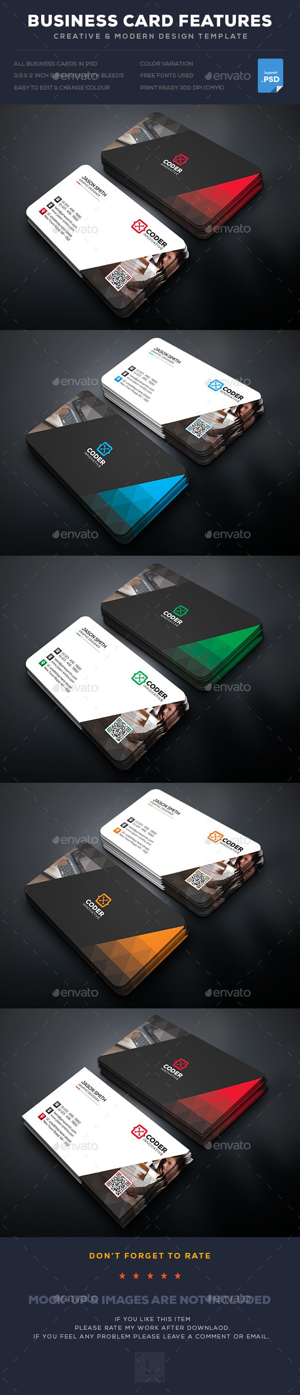 Creative Business Card Template PSD. Download here: https://graphicriver.net/item/creative-business-card/17449667?ref=ksioks