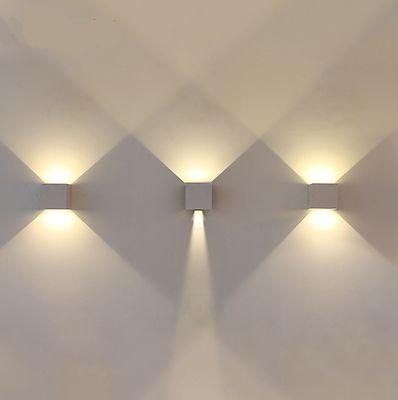 32 Euro Ebay 7W-Aluminium-LED-Wandleuchte-Up-Down-Beleuchtung-Flurlampe-Wandstrahler-Warmweiss