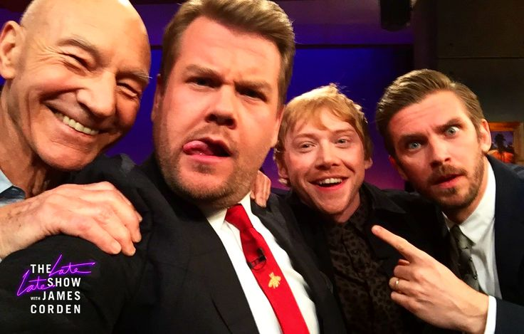 Rupert Grint, Dan Stevens and Patrick Stewart  | The Late Late Show with James Corden (March 6, 2017)  #RupertGrint #DanStevens #PatrickStewart #JamesCorden #Interview #TheLateLateShow